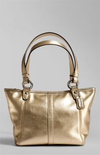 COACH LEAH METALLIC LEATHER SMALL BAG