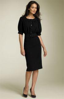 Calvin Klein Belted Crepe Dress
