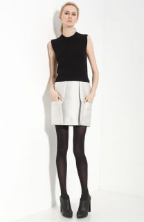 3.1 Phillip Lim Paneled Silk Dress with Removable Sweater