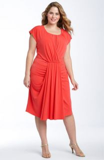 Suzi Chin for Maggy Boutique Draped Jersey Dress (Plus)