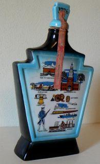 Collectible Jim Beam Whiskey Bottle Pennsylvania Historic 1969 Empty