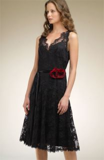 Shani Collection Belted Lace Party Dress