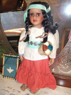 Heritage Collection Porcelain Doll Native American Indian Natane 12358