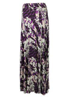 Rachel Pally Womens Long Full Print Jersey Maxi Skirt $210 New
