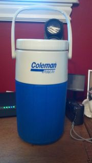 Vintage Coleman 1 2 Gallon Water Jug Cooler 5590 Blue in Color Clean