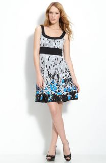 Donna Ricco Print Sleeveless Dress (Plus)