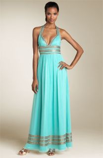 Adrianna Papell Grecian Halter Gown