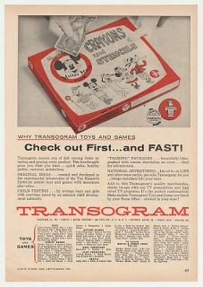 Transogram Mickey Mouse Club Crayons Stencils Trade Print Ad