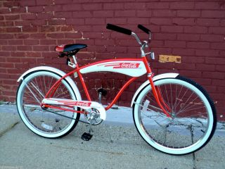 Vintage Coca Cola Huffy Promotional Bicycle 80s Coke Tank Bike