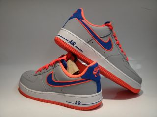 Nike Air Force 1 Wolf Gray Game Royal Blue Sneakers Mens Size 16