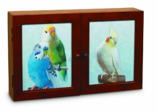 Feathered Fun Wood Wall Mount Table Top Bird Activity Center