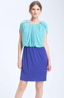 Donna Ricco Colorblock Blouson Dress