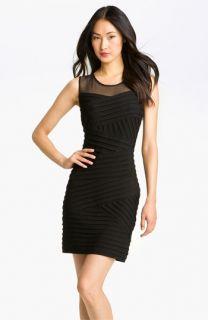 Calvin Klein Illusion Yoke Pleated Jersey Dress