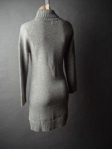 Gray Fisherman Style Turtleneck Women Cozy Cable Knit Sweater 02 MV