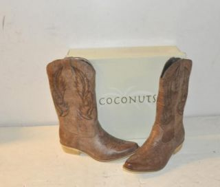 Coconuts Size 8 M Womens Gaucho Brown Cowgirl Boots