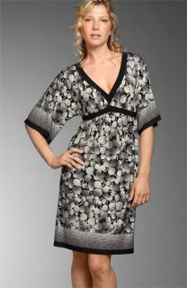 London Times Kimono Sleeve Matte Jersey Dress