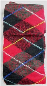 Authentic Scottish Kilt Hose Clan Tartan Plaid Wilson Gunn Socks Wool