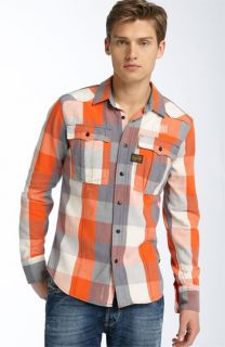G Star Raw Plaid Flannel Shirt