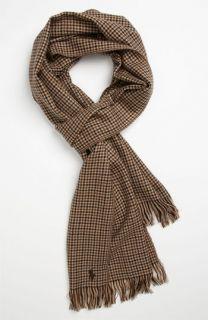 Polo Ralph Lauren Houndstooth Wool Scarf