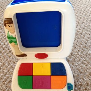 Blues Clues Steves Learning Lessons Mini Computer Toy with All 7
