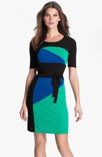 BCBGMAXAZRIA Leticia Colorblock Jersey Dress