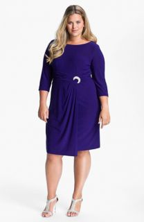 Alex Evenings Jeweled Matte Jersey Dress (Plus)