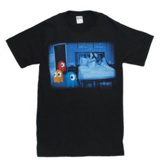 Pac Man Namco Clyde Inky And Blinky Ghosts Adult T Shirt Tee