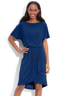 Donna Ricco Faux Wrap Jersey Dress
