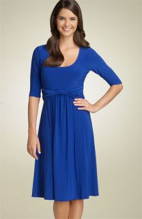 Eliza J Knot Front Matte Jersey Dress