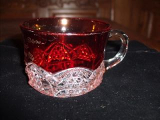 1903 Ruby Flash Mini Coffee Cup Excelsior Springs, Mo Dorothy