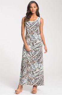Karen Kane Animal Print Maxi Dress