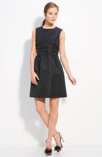 RED Valentino Bow Trim Faille Dress