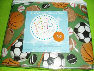 PLAY BALL, FUN & GAMES CHILDS FULL SZ SHEET SET NEW IN PACKAGE