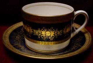 Coalport China Lady Anne Cobalt Blue Cup Saucer Set