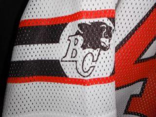 VTG MENS L EC CFL #40 BRITISH COLUMBIA BC LIONS FOOTBALL JERSEY SHIRT