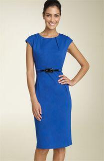 Calvin Klein Belted Ponte Knit Dress