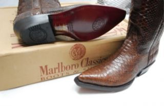 MEN MARLBORO CLASSIC BOOTS PYTHON SNAKE SKIN Mens 6.5 / Wos 8