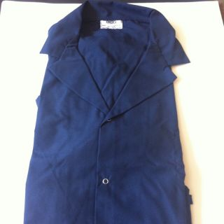 Navy Blue Snap Front Lab Coat Workshop Navy Blue 2X