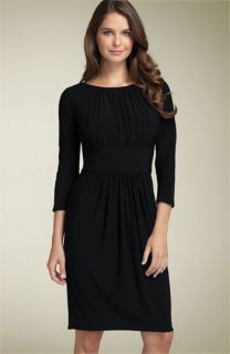 Maggy London Ruched Matte Jersey Dress
