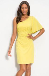 Calvin Klein One Shoulder Jersey Sheath Dress
