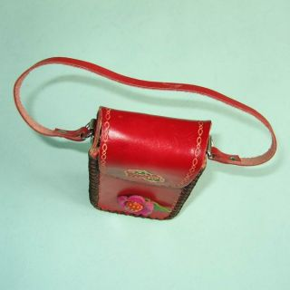 Cute Strawberry Cattle Leather Coin Change Purse Wallet Mini Red Bag
