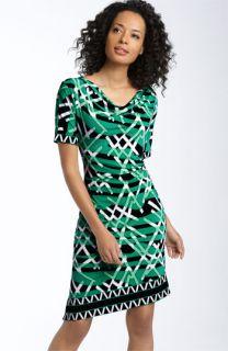 BCBGMAXAZRIA Shirred Jersey Shift Dress
