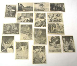 Vintage 1963 1964 Selmur Combat Trading Cards Series 1 and 2 No