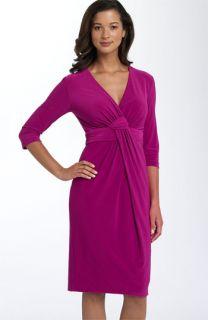 Donna Ricco Twist Front Jersey Dress