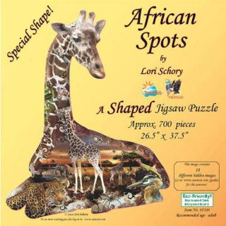 African Spots 700 Piece Shaped Puzzle