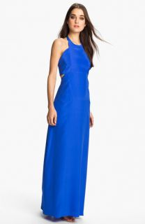 ALICE & TRIXIE Tiffany Double Tie Silk Halter Maxi Dress
