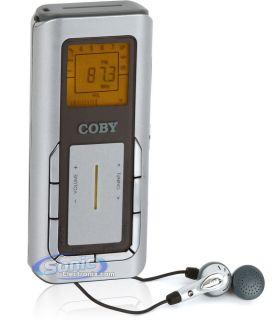 Coby CX 90 GRAY Mini Digital AM FM Stereo Handheld Pocket Radio w Neck