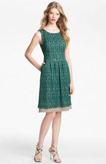 Lela Rose Lace Overlay Sheath Dress