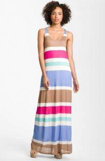 Splendid Racerback Stripe Maxi Dress