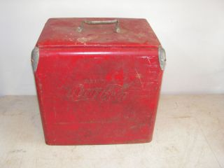 Vintage 1950s Coca Cola Cooler Ice Chest